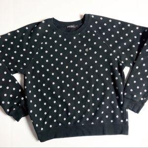 Obey Logo Long Sleeve Pullover Sweatshirt